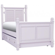 Varsity Twin Post Bed w/ Trundle - Lavender