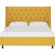 Sheridan Californina King Nail Button Tufted Wingback Platform Bed