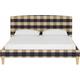 Drita California King Upholstered Panel Bed