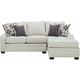 Caid 2-pc. Chenille Sectional Sofa