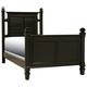 Varsity Full Post Bed - Black