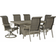 Windon Barn 7-pc. Outdoor Fire Pit Dining Set