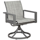 Okada Outdoor Sling Swivel Chair - Set of 2