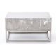 Concrete and Chrome Outdoor Coffee Table