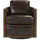 Brookshire Leather Swivel Accent Chair