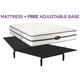 Waterfront Plush Queen Mattress w/ Free Adjustable Base