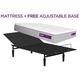 Purple Hybrid Twin XL Mattress w/ Free Adjustable Base