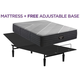 Beautyrest Black X Class Twin XL Firm Hybrid w/ Free Adjustable Base
