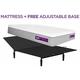 Purple Hybrid Premier 3 Queen Mattress w/ Free Adjustable Base