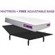Purple Hybrid Premier 4 Queen Mattress w/ Free Adjustable Base