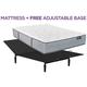 King Koil Elite Bellmont Luxury Firm Queen Mattress w/ Free Adjustable Base