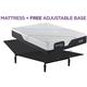 Serta iComfort Foam CF2000 Firm Queen Mattress w/ Free Adjustable Base