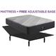 Beautyrest Black X Class Queen Medium Hybrid w/ Free Adjustable Base