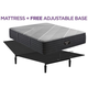 Beautyrest Black X Class Queen Firm Hybrid w/ Free Adjustable Base
