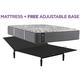 Posturepedic Plus Baldwin Park Cushion Firm Queen Mattress w/ Free Adjustable Base