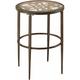 Marsala Glass End Table