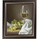 Wine and Grapes Framed Canvas Wall Art