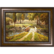 Country Bridge Framed Canvas Wall Art