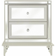 Amini Innovation, Corp. Hollywood Loft Nightstand Frost / Mirrored