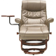 Leo 2-pc. Reclining Chair and Storage Ottoman