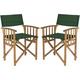 Laguna Outdoor Director Chair: Set of 2