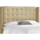 Cranford Queen Nail Button Tufted Wingback Headboard