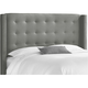 Cranford King Nail Button Tufted Wingback Headboard