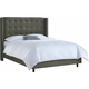 Cranford King Nail Button Tufted Wingback Bed