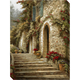 Villa Steps Gallery-Wrapped Canvas Wall Art
