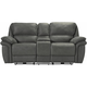 Skye Microfiber Power Reclining Console Loveseat