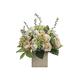Peonies, Roses and Hydrangeas in Ceramic Pot