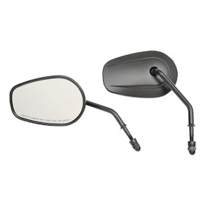 """Drag Specialties One Chrome Teardrop Mirror With Curved 3 1//2/"""" Stem Harley Each"""
