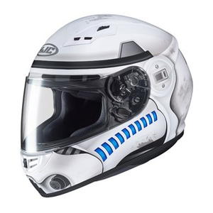 HJC CS-R3 with Dark Shield added Motorcycle Helmet Spike Blue SM MD LG XL XXL
