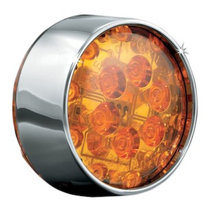 Kuryakyn LED Flat Style Front Turn Signal Conversion Smoke Lens 5441