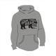 Long Sleeve Bear Logo Hooded Sweatshirt Athletic Gray