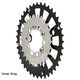 Surly Stainless Steel Mwod Chainring Stainless, 20T X 58mm, Inner