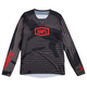 100% R-Core-X DH L/S Jersey Men's Size Large in Black/Green