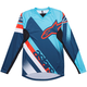 Alpinestars Racer LS Jersey Men's Size Medium in Atoll Blue Poseidon Blue