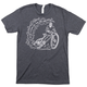 Twin Six Burn Out T-Shirt Men's Size Extra Large in Charcoal