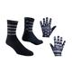 Tasco MTB Black Flag Bike Gloves + Socks Men's Size Medium (Gloves) Large/Extra Large (Socks)