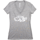 Zoic Women's Truck Tee Size Large in Light Grey Heather