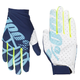 100% Celium 2 MTN Bike Gloves 2018 Men's Size Small in Navy/Ice Blue/Fluo Lime