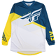 Fly Racing F-16 Jersey 2019 Men's Size XX Large in Yellow/White/Navy