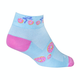 Sockguy Donut Ride Women's Socks Size Small/Medium in Blue/Pink