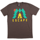 Twin Six Escape T-Shirt 2019 Men's Size Large in Brown