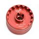 Wheels MFG Bottom Bracket Socket Tool Red, 48.5mm & 44mm, 16 Notch, 1/2
