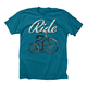Twin Six Ride T-Shirt Men's Size Extra Large in Blue
