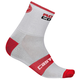 Castelli Rosso Corsa 9 Socks Men's Size Small/Medium in Anthracite/Red