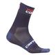 Castelli Rosso Corsa 6 Socks 2019 Men's Size Small/Medium in White/Red