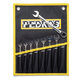 Pedros Pro Ratcheting Wrench Set Chrome, 8-15mm W/Storage